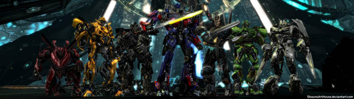 Transformers - Autobots Dual Screen Wallpaper by ShaunsArtHouse