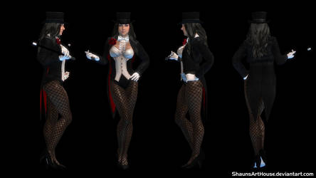 Zatanna Zatara Serinda Swan custom 3D model by ShaunsArtHouse
