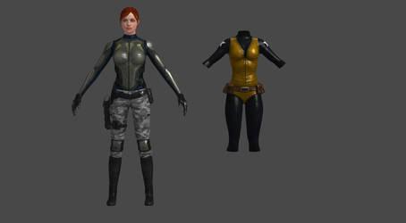 G.I.Joe Scarlett O'Hara custom 3D model by ShaunsArtHouse