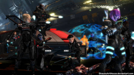 Mass Effect Occitania - Wolfe Pack 3 by ShaunsArtHouse