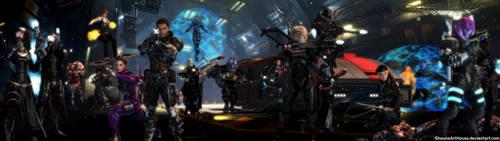 Mass Effect Occitania 3: Dual Screen Wallpaper by ShaunsArtHouse