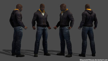 Luke Cage Mike Colter custom 3D model by ShaunsArtHouse