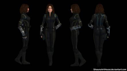 Quake Chloe Bennet custom 3D model by ShaunsArtHouse