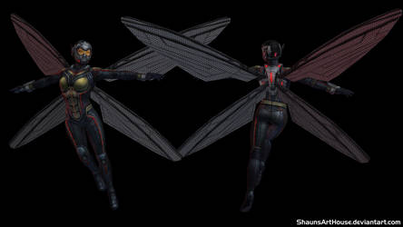 Wasp Evangeline Lilly custom 3D model by ShaunsArtHouse