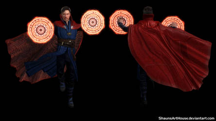 Dr Strange Benedict Cumberpatch custom 3D model by ShaunsArtHouse