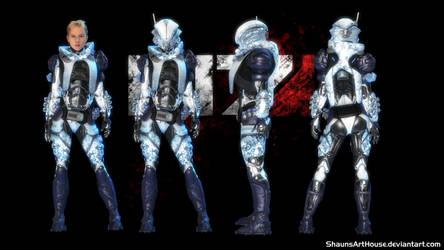 ME Occitania 3: Jessica Angaran Winter Armour by ShaunsArtHouse