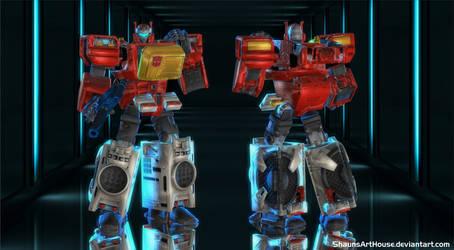 Blaster Transformers for XNALara / XPS by ShaunsArtHouse
