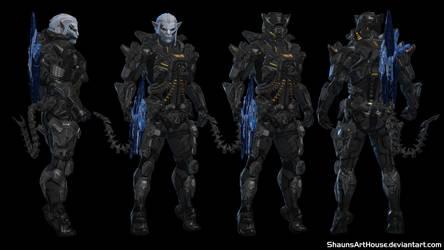 Mass Effect Occitania - Dylinvar Armor by ShaunsArtHouse