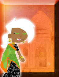 Dani in India by Nadia-Ahmed