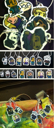 FOR SALE Community 8-Bit Charms by LIV4TheObsession