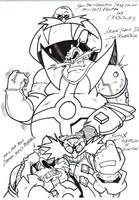 the eggman,robotnik sketch by trunks24