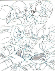 Sonic Vs Knuckles MY NUMBER1 FRIENDLY RIVAL teaser by trunks24