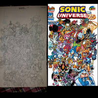 sonic universe 75 variant 6 by trunks24