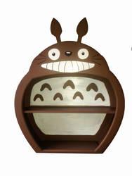 Totoro Bookshelf by Raxfox