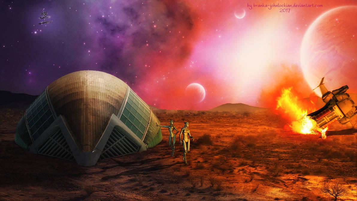 Crash Landing on Mars by BrankaArts