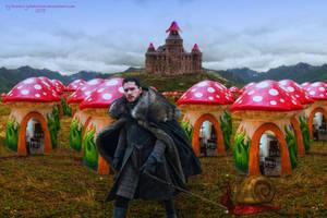 Jon Snow in the Mushroom Kingdom by BrankaArts