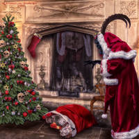Krampus Has Beaten You, Santa by BrankaArts
