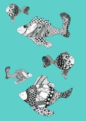 Zentangle Fish Pattern by mdudziak
