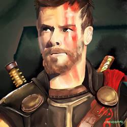 Thor_daily_paint_inktober_2018_27th_oct_thunder_th by friendbeard
