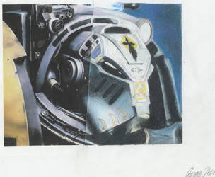 Space Marines Terminator Helm by neddiedrow