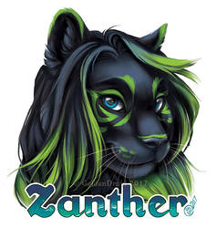 Zanther Painted Badge Commission by Shadowfang15