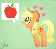 That pony sure loves apples! by NotEnoughApples