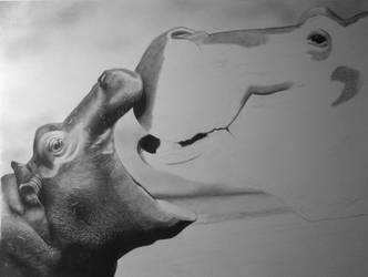 Hungry Hungry Hippos WIP 1 by HannaKarlsson