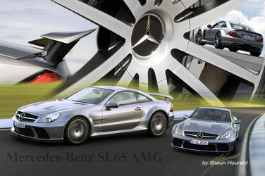 2009 M-Benz_SL65_AMG_Black by The-LoneWarrior