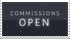 STAMP: OPEN for Commissions by saberstock