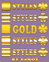 Elegant Gold Photoshop Layer Styles / ASL by nisanboard