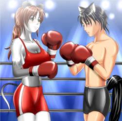 Commission_Kari v.s. Jiro by haungpower