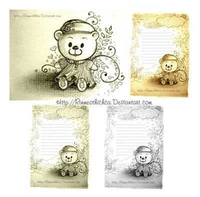 Letterhead Teddy Bear by Rinmeothichca