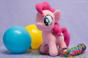 First Pinkie Pie Plushie by PheiPlushies