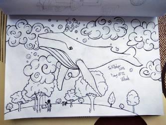 Inktober Day#12 Whale by KarinMao