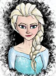 Queen Elsa by AbsyntheRequiem