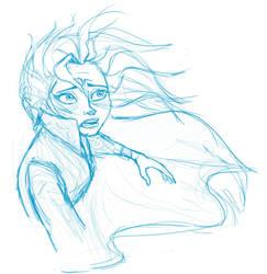 Elsa Practice by AbsyntheRequiem
