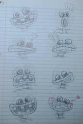 My Singing Monsters- Wubbox expression sketches by ShylylavenDER