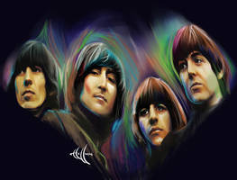 Rubber Soul painter by choffman36