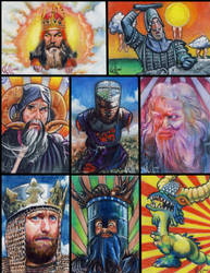 Monty Python Grail sketch card by choffman36