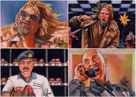 Big Lebowski sketch cards 3 by choffman36