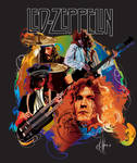 Led Zeppelin t shirt vector by choffman36