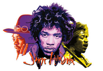 Jimi Hendrix vector collage by choffman36