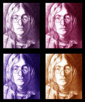 John Lennon color study by choffman36