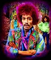 Jimi Hendrix colored by choffman36