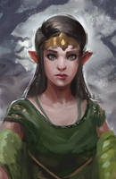Elf Princess by MarkPanchamArt