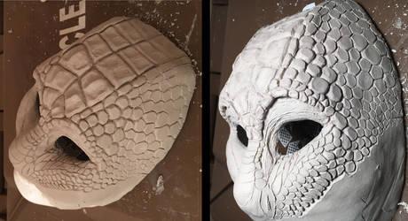 Reptile Mask Sculpt Test by TheScreechingPumpkin