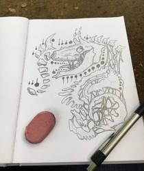 Monster Sketch #1 by TheScreechingPumpkin