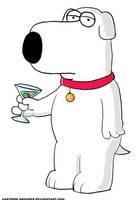 Brian Drinking a Martini by Cartoon-Admirer