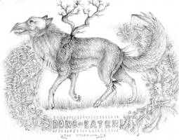 Bone-eater Corvus by DeltaNebula
