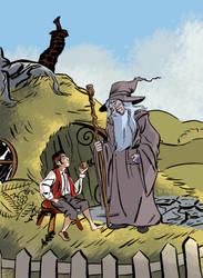 Bilbo Meets Gandalf by aisu-kaminari